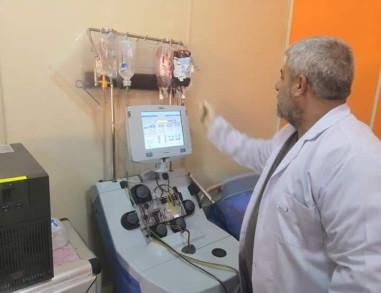 العمل بجهاز سبكتره أوبتيا لفصل مكونات الدم داخل مستشفى الاطفال بكربلاء