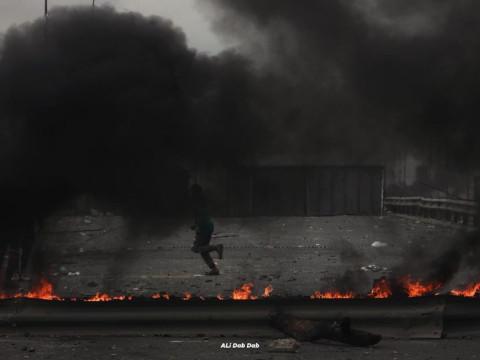 الاعلام الامني: اصابة منتسب برمي رمانة من قبل المتواجدين فوق سريع محمد القاسم