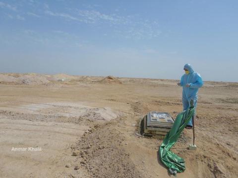 دفن 350 متوفيا بفيروس كورونا في مقبرة النجف منذ تفشي كورونا في العراق