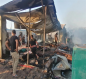 حريق في موكب حسيني بكربلاء.. الدفاع المدني تتدخل (صور)