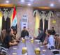 بالصور:ممثل السيستاني في كربلاء يمنح مواكب العزاء في قضاء طوريج معقمات ومواد تعفير